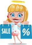Angel Kid Vector Cartoon Character AKA Stella the Shining Angel - Sale 1
