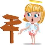 Angel Kid Vector Cartoon Character AKA Stella the Shining Angel - Crossroad