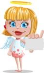 Angel Kid Vector Cartoon Character AKA Stella the Shining Angel - Sign 1