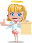 Angel Kid Vector Cartoon Character AKA Stella the Shining Angel - Sign 2