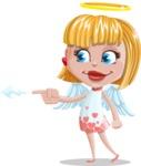 Angel Kid Vector Cartoon Character AKA Stella the Shining Angel - Point 1