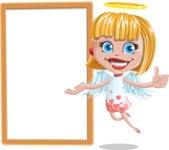 Angel Kid Vector Cartoon Character AKA Stella the Shining Angel - Presentation 3