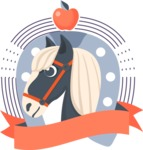 Animals: On The Farm - Horse Sticker