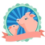 Animals: On The Farm - Farm Pigs Badge