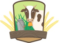 Animals: On The Farm - Cow and Milk Badge