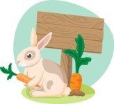 Animals: On The Farm - Rabbit with Carrots