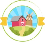 Animals: On The Farm - Barn and Windmill Sticker