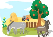 Animals: On The Farm - Farmland with Animals