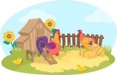 Animals: On The Farm - Chickens on the Farm