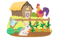 Animals: On The Farm - Animals at a Vegetable Garden