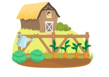 Animals: On The Farm - Farm Vegetable Garden