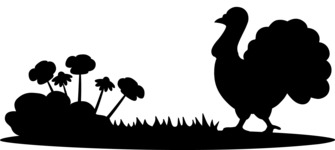 Animals: On The Farm - Turkey on a Farm Silhouette