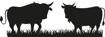 Animals: On The Farm - Cattle Silhouette