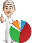 Cute Arab Boy Cartoon Vector Character AKA Hanif - Chart