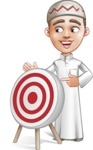 Cute Arab Boy Cartoon Vector Character AKA Hanif - Target