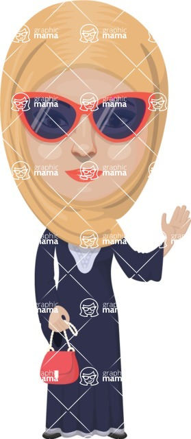 Arabian vector graphics - creation kit - Make your own arab/muslim avatar using a rich collection of clothes, costumes, eyes, hairs and accessories - Muslim Woman 1