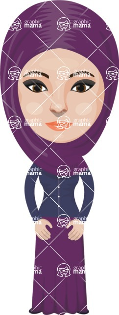 Arabian vector graphics - creation kit - Make your own arab/muslim avatar using a rich collection of clothes, costumes, eyes, hairs and accessories - Muslim Woman 22