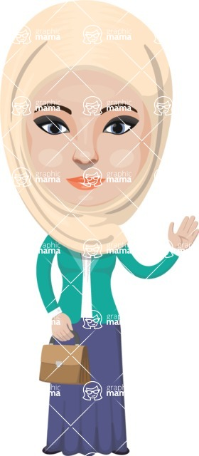 Arabian vector graphics - creation kit - Make your own arab/muslim avatar using a rich collection of clothes, costumes, eyes, hairs and accessories - Muslim Woman 24