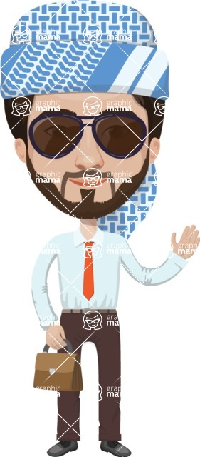 Arabian vector graphics - creation kit - Make your own arab/muslim avatar using a rich collection of clothes, costumes, eyes, hairs and accessories - Muslim Man 16