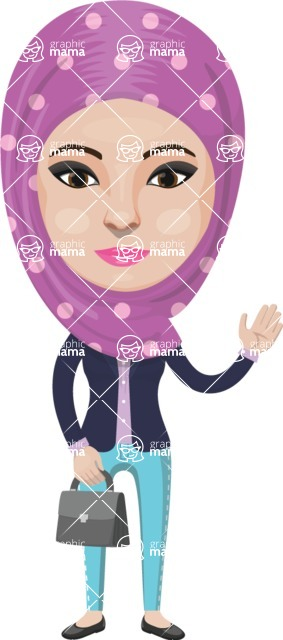 Arabian vector graphics - creation kit - Make your own arab/muslim avatar using a rich collection of clothes, costumes, eyes, hairs and accessories - Muslim Woman 8