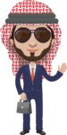Arabian vector graphics - creation kit - Make your own arab/muslim avatar using a rich collection of clothes, costumes, eyes, hairs and accessories - Muslim Man 2