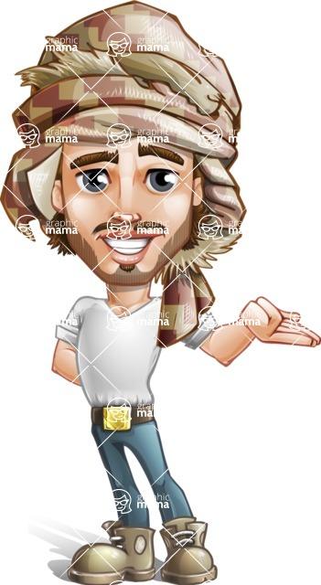 Desert Man Cartoon Vector Character AKA Sabih - Sorry