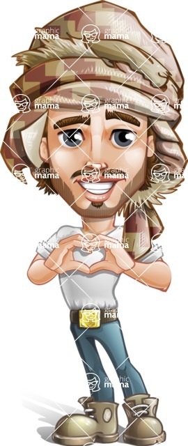 Desert Man Cartoon Vector Character AKA Sabih - Laptop 4