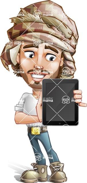 Desert Man Cartoon Vector Character AKA Sabih - iPad 1