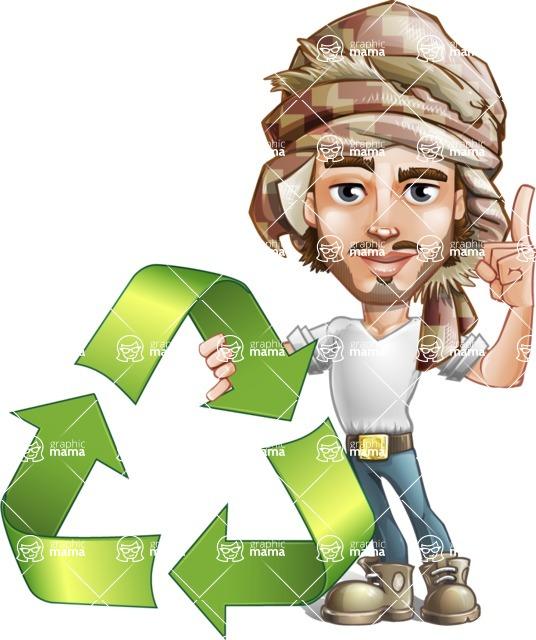 Sabih the Desert man - Recycling