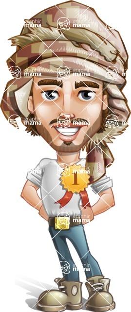 Sabih the Desert man - Badge