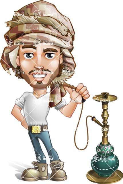 Sabih the Desert man - Hookah