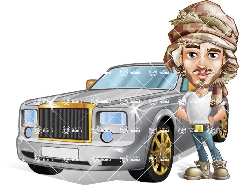 Sabih the Desert man - Car