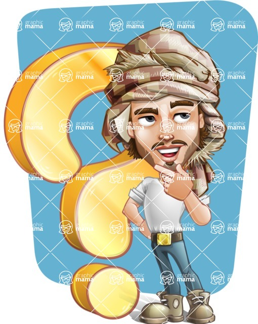 Sabih the Desert man - Shape 12