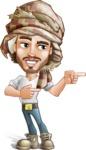 Desert Man Cartoon Vector Character AKA Sabih - Point 2