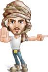 Desert Man Cartoon Vector Character AKA Sabih - Direct Attention