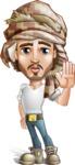 Desert Man Cartoon Vector Character AKA Sabih - Good Bye