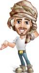 Desert Man Cartoon Vector Character AKA Sabih - Oops