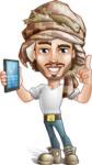 Desert Man Cartoon Vector Character AKA Sabih - Support