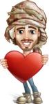 Desert Man Cartoon Vector Character AKA Sabih - Love