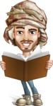 Desert Man Cartoon Vector Character AKA Sabih - Book 2