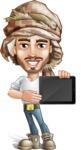 Desert Man Cartoon Vector Character AKA Sabih - iPad 2