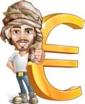 Desert Man Cartoon Vector Character AKA Sabih - Euro