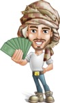 Desert Man Cartoon Vector Character AKA Sabih - Show me the money