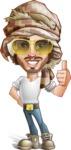 Desert Man Cartoon Vector Character AKA Sabih - Sunglasses