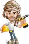 Desert Man Cartoon Vector Character AKA Sabih - Under Construction