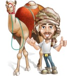 Desert Man Cartoon Vector Character AKA Sabih - Camel