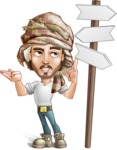 Desert Man Cartoon Vector Character AKA Sabih - Crossword