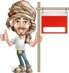 Desert Man Cartoon Vector Character AKA Sabih - Sale