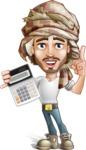 Desert Man Cartoon Vector Character AKA Sabih - Calculator