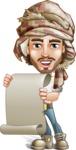 Desert Man Cartoon Vector Character AKA Sabih - Sign 5